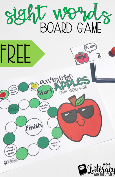Fall Sight Word Board Game