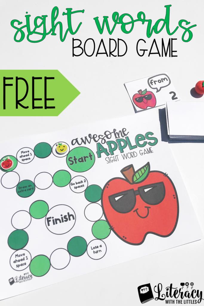 Fall Sight Word Board Game