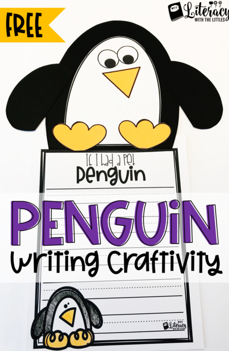 Free Penguin Writing Craftivity