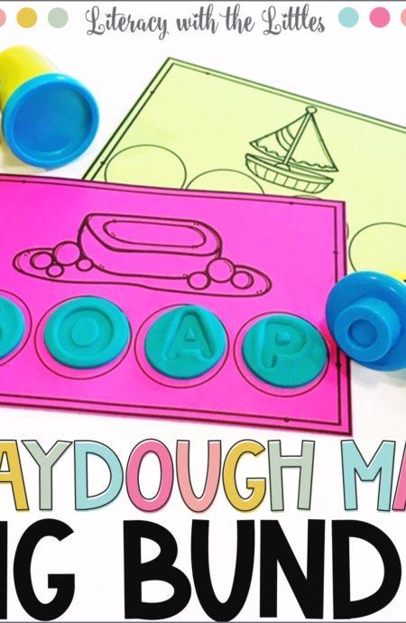 Rainbow Color Words Playdough Mats