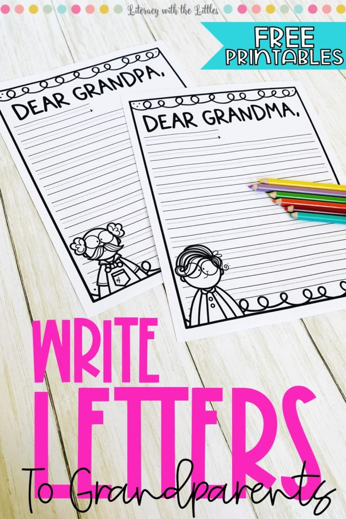 Printable Letter Writing Template from literacywiththelittles.com