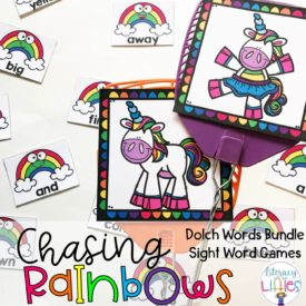 Chasing Rainbows Dolch Sight Word Game