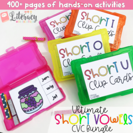 Ultimate Short Vowels CVC Bundle {Clip cards, sound boxes, games, and activities}